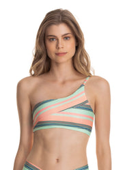 Maaji Beech Degree One Shoulder Bikini Top