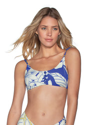 Maaji Vacation Lodge Reversible Bralette Bikini Top