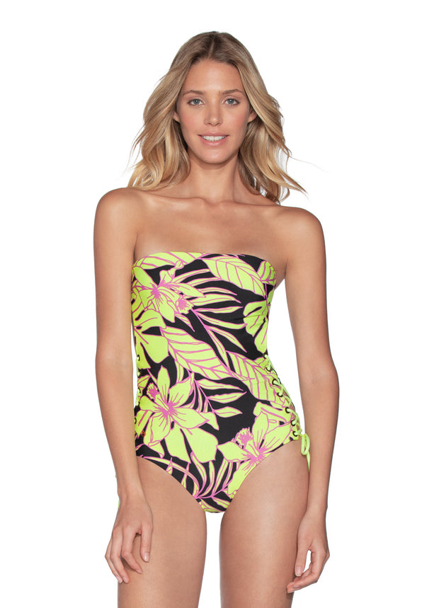 Maaji Tropic Arista Reversible Bandeau One Piece Swimsuit