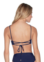 Maaji Ink Blue Lovely Reversible Bikini Top