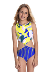 Maaji Sunflower Goldie Reversible Girls Swimsuit