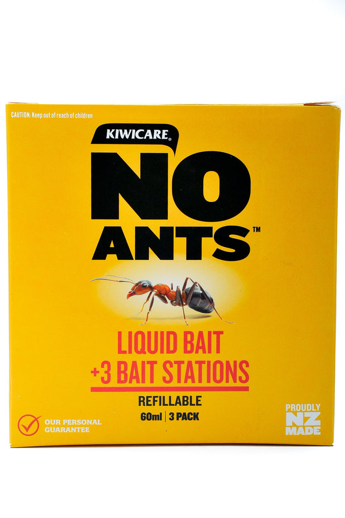 NO Ants Liquid Bait 60ml + 3 Bait Stations