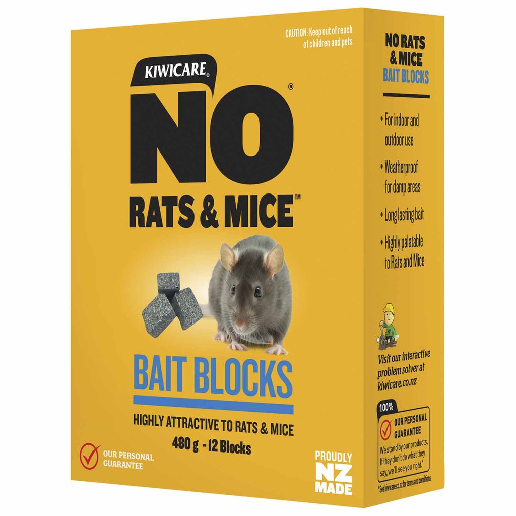 Kiwicare NO Rats & Mice Weatherproof Bait Blocks