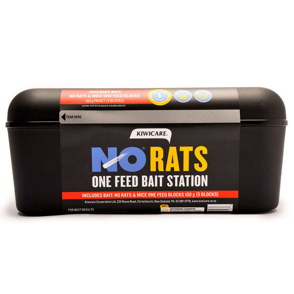Kiwicare NO Rats Bait Station with NO Rats & Mice One Feed Bait