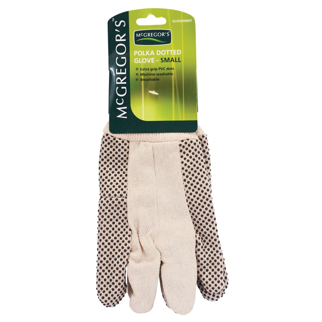 McGregor's Small Polka-dot Cotton Gloves (Small)