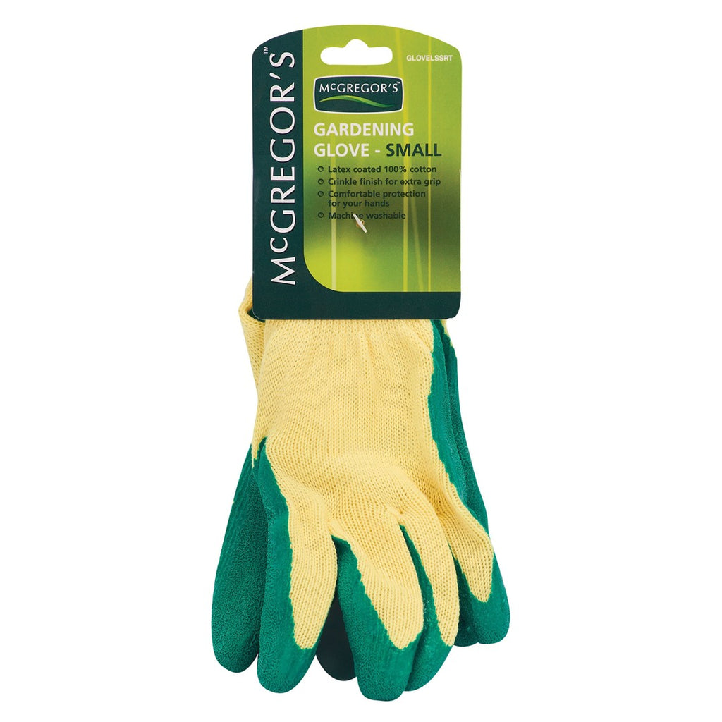 McGregor's Crinkle Latex Cotton Gloves (Small)