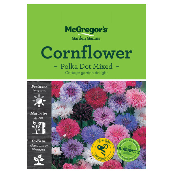 Polka Dot Cornflower Mixed Seeds - Flowers
