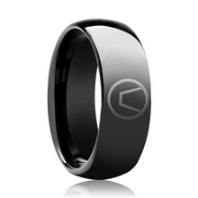 Load image into Gallery viewer, black swinger symbol ring jewelry