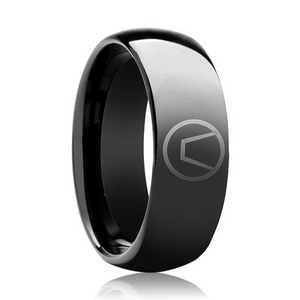 black swinger symbol ring jewelry