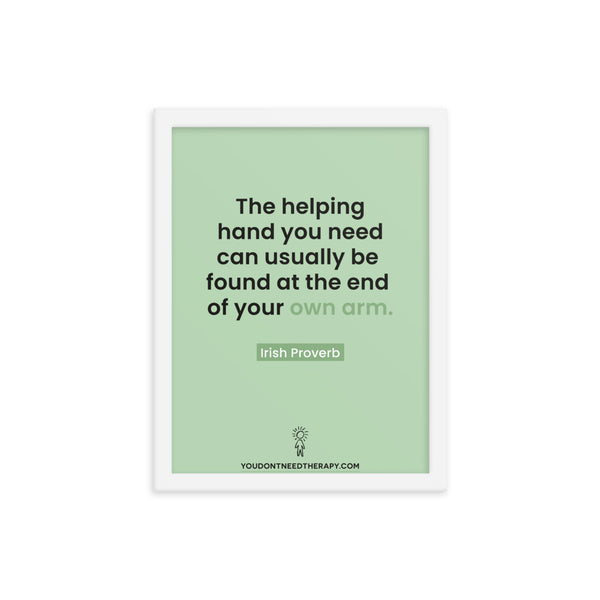 Helping Hand Framed Poster