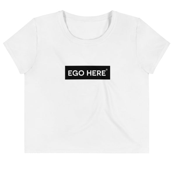 Women's Medium Ego Block Crop Tee