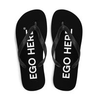 Big Ego Black Flip-Flops