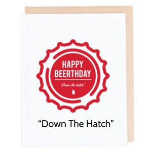 Open image in slideshow, Beerthday Beer Cap Cards - Choose From 8 Styles - Inspired Evanston