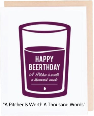 Open image in slideshow, Beerthday Pint Cards - Choose From 8 Styles - Inspired Evanston