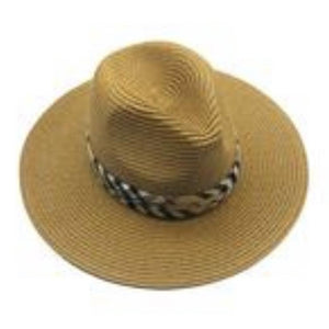 Beige Panama Hat with Designer Band - Inspired Evanston