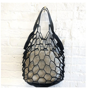 Black Laser Cut Purse with Zippered Insert - Inspired Evanston
