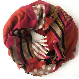 Bright Pink and Orange Sarong Scarf - Inspired Evanston