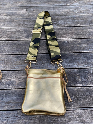 Cross Body Purse - Gold - Scroll to the view the 2 styles - Inspired Evanston