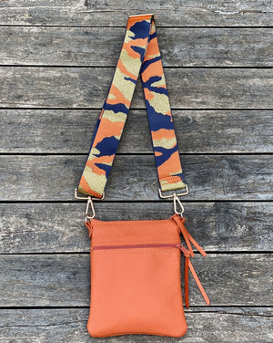 Cross Body Purse - Orange - Scroll to view the 2 styles - Inspired Evanston