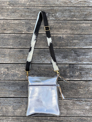 Cross Body Purse - Silver - Inspired Evanston