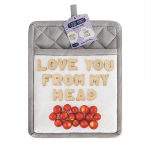Food Pun Mitt - Love You From My Head Tomatoes - Inspired Evanston
