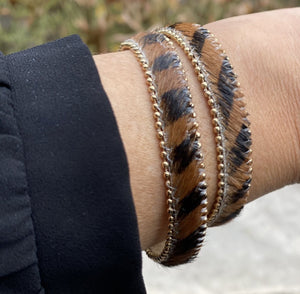 Open image in slideshow, Hide Hair Leather Double Wrap Bracelet - Available in 2 Colors - Inspired Evanston