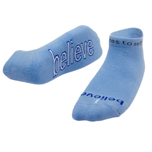 I Believe Socks - Blue - Inspired Evanston