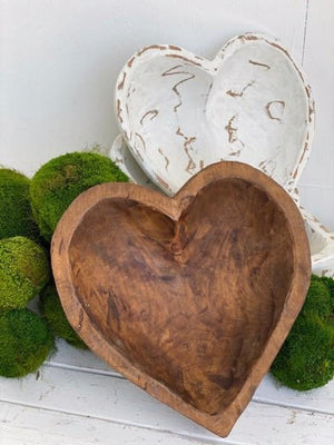 Open image in slideshow, Large Heart Dough Bowl - Available in Natural and White - Inspired Evanston