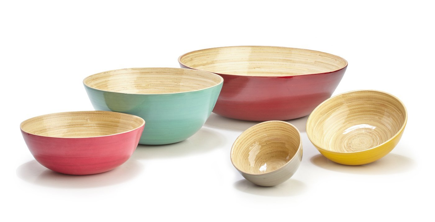 Large Shallow Bamboo Bowl - Inspired Evanston