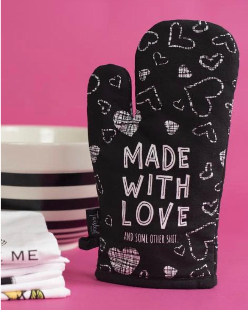 Made With Love (and Other Shit) Oven Mitt - Inspired Evanston