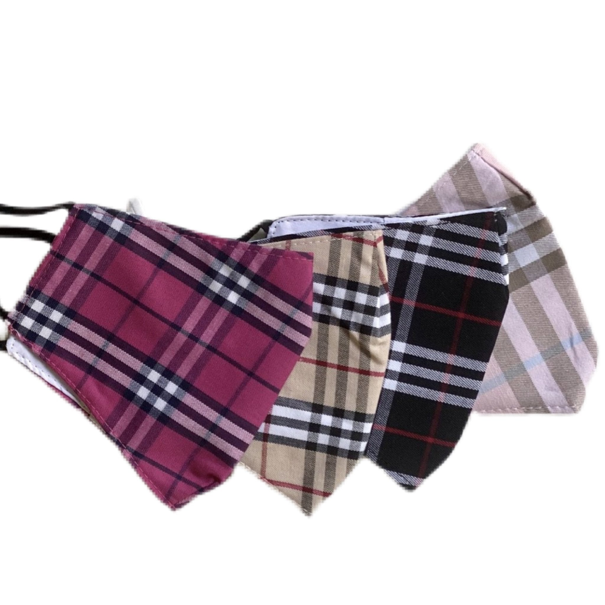 Plaid Mask - Scroll to view the 4 colors - Inspired Evanston
