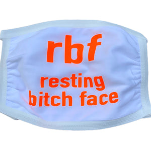 Open image in slideshow, RBF - Resting Bitch Face Mask - Scroll to view color options - Inspired Evanston