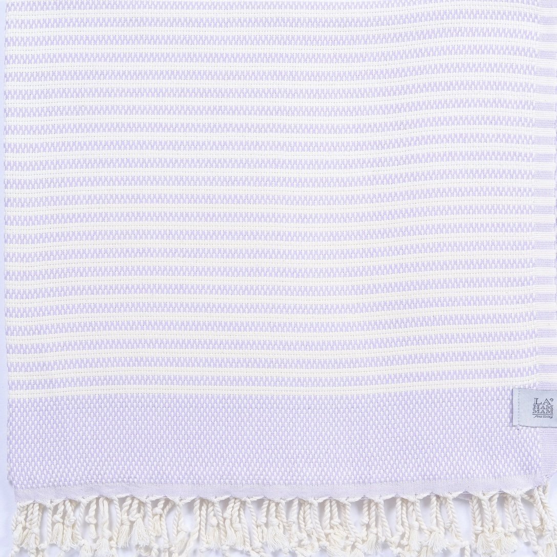 Shiran Peshtemal Pure Cotton Turkish Towel - Lavender - Inspired Evanston