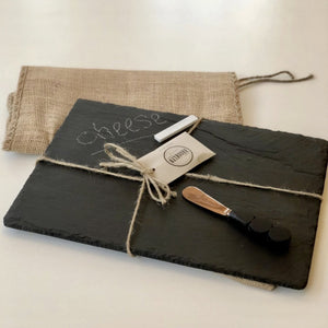 Slate Cheese Board- Small Rectangle - Inspired Evanston