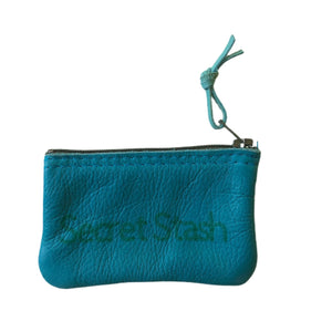 Open image in slideshow, Small Leather Inspirational Pouch, Secret Stash - Inspired Evanston