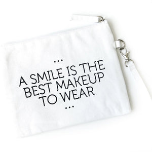 Smile Canvas Makeup Bag - Inspired Evanston