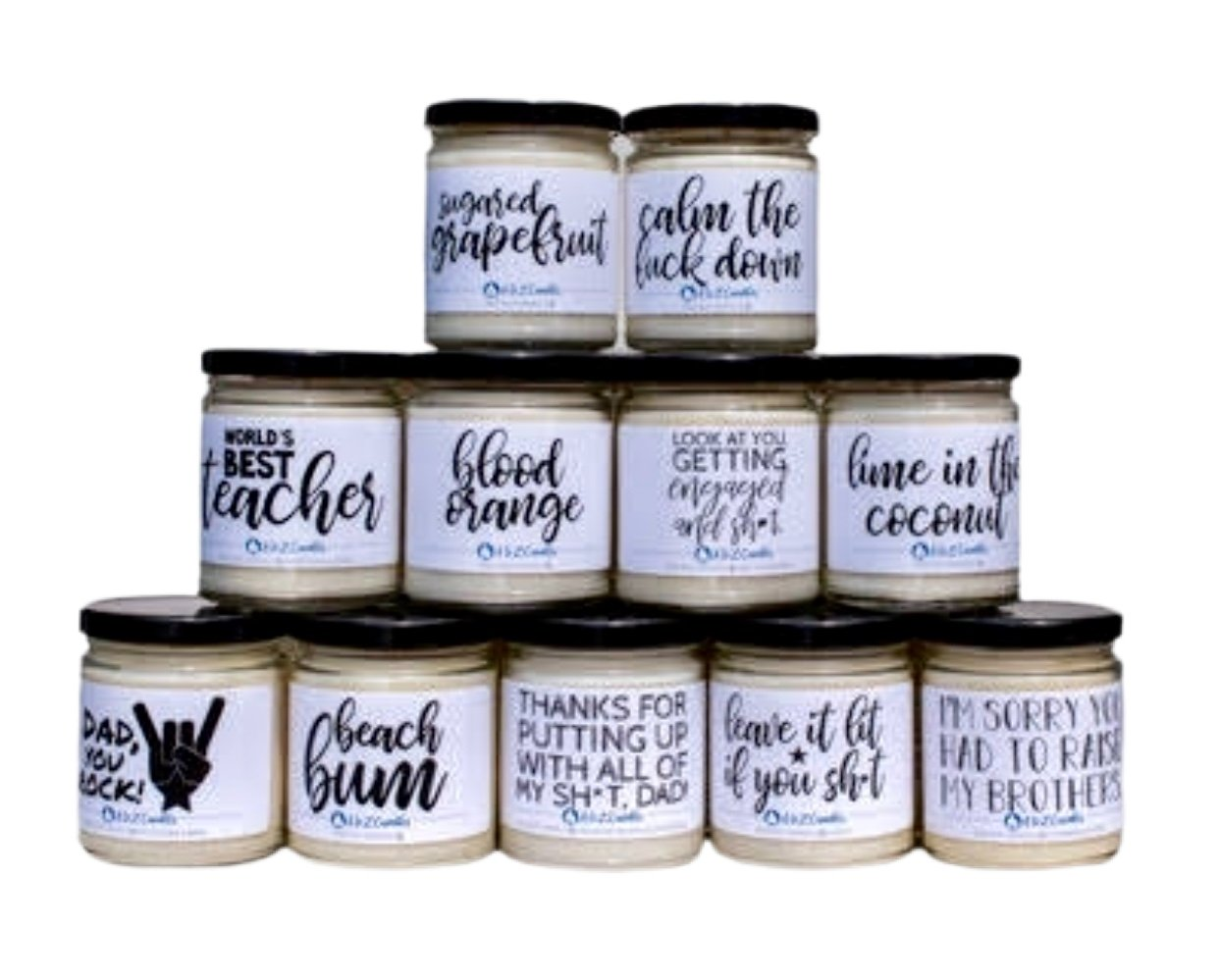 Soy Based Vegan Candles - Choose From 14 Styles - Inspired Evanston