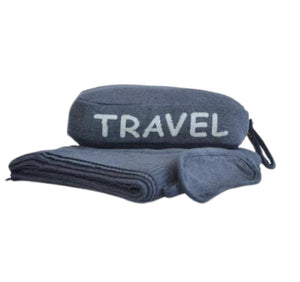 Open image in slideshow, Travel Blanket Set (Travel) - Choose from 2 Colors - Inspired Evanston
