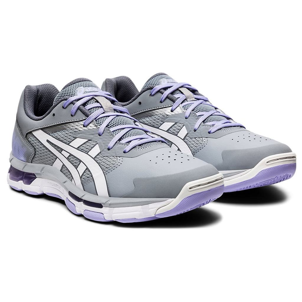 Asics Gel Netburner Academy 8 Carrier Grey/White Netball Trainers - Nutz About Netball