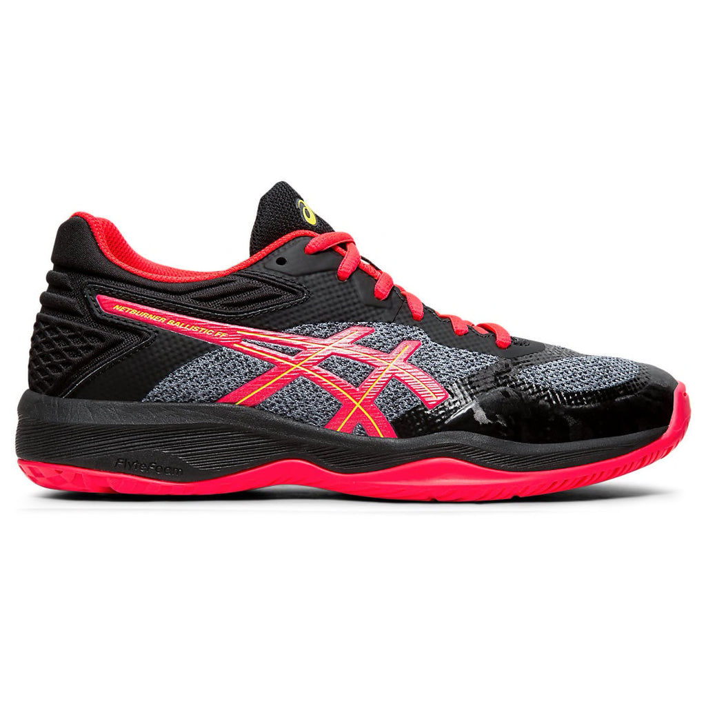 ASICS Netburner Ballistic FF Black/Laser Pink Netball Trainers - Nutz About Netball