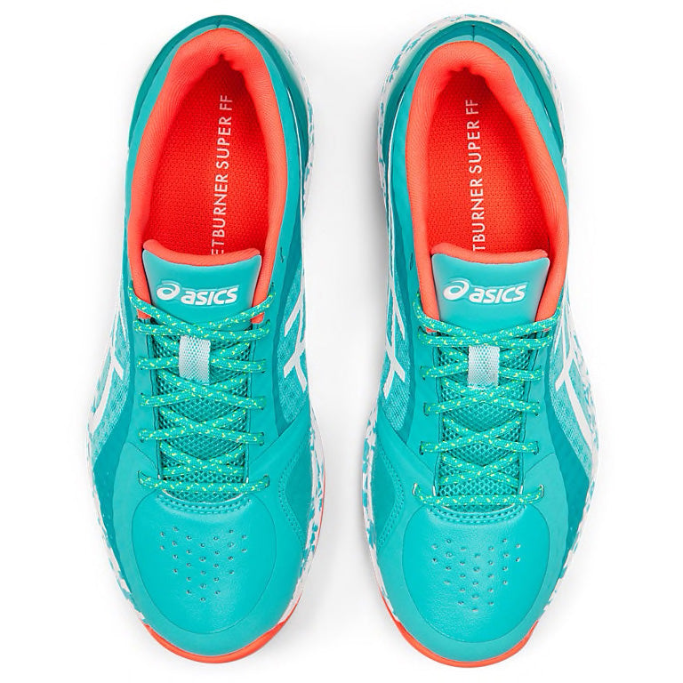 ASICS Netburner Super FF Ice Mint/White Netball Trainers - Nutz About Netball
