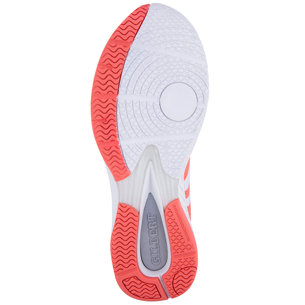 Gilbert Evolution Netball Trainers Coral Junior Sizes - Nutz About Netball