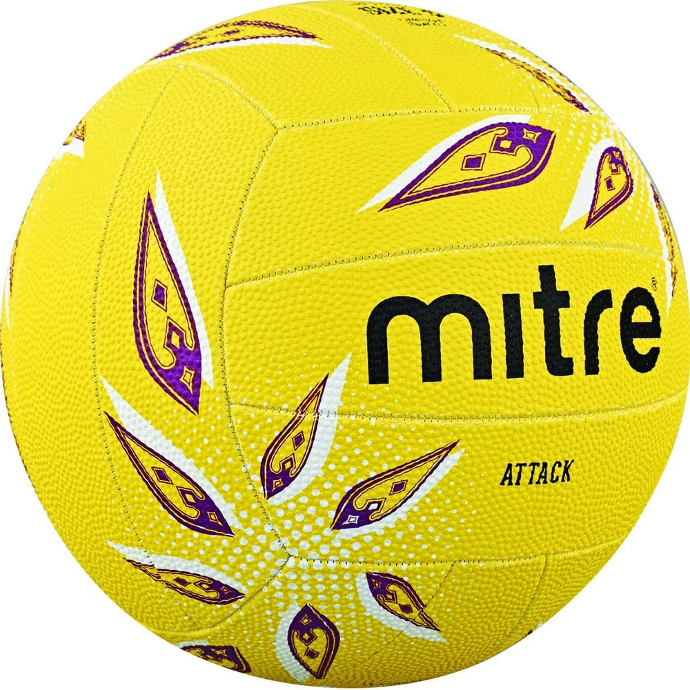 Mitre Attack Yellow Size 5 Netball - Nutz About Netball