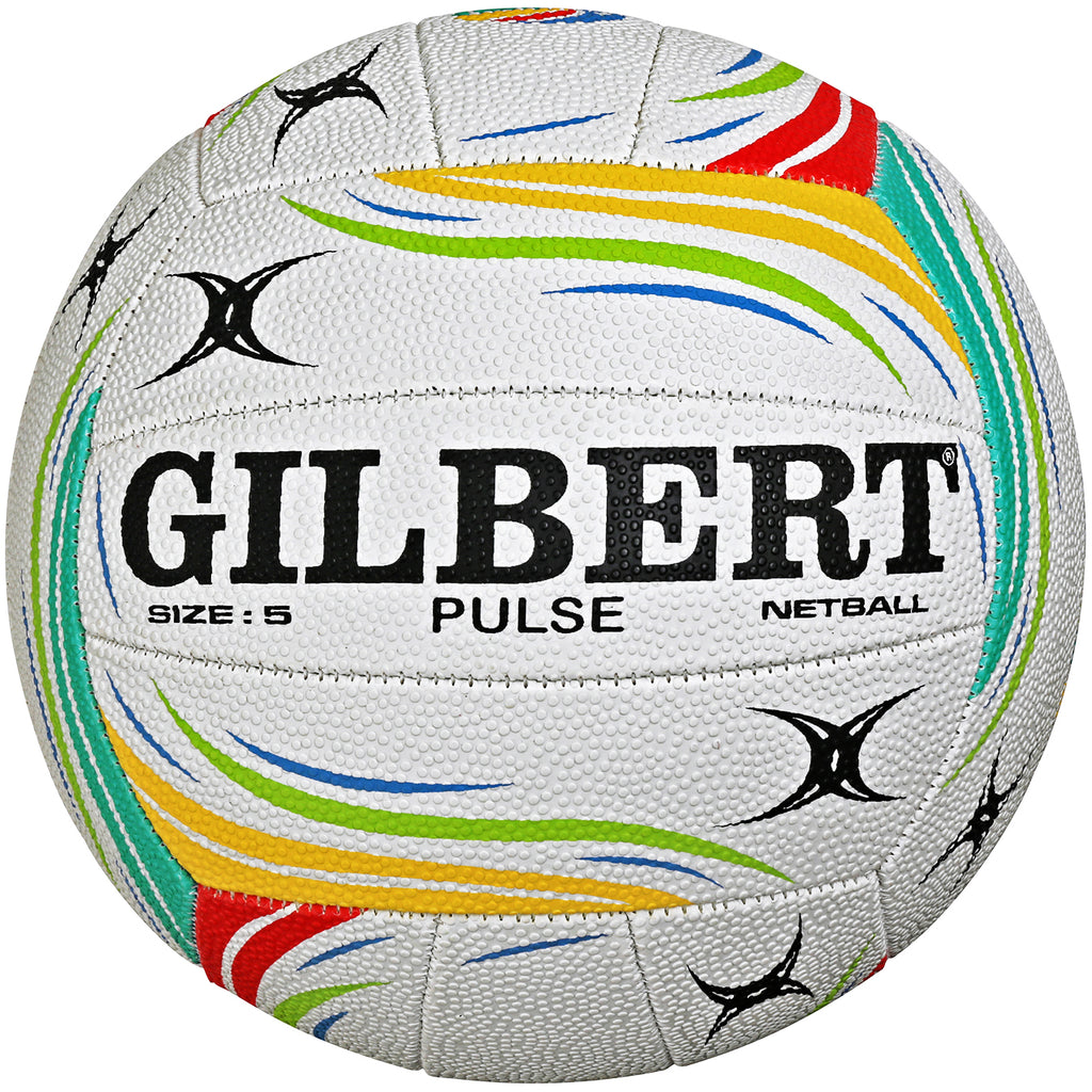 Gilbert Pulse Multi-coloured Netball Size 5 - Nutz About Netball