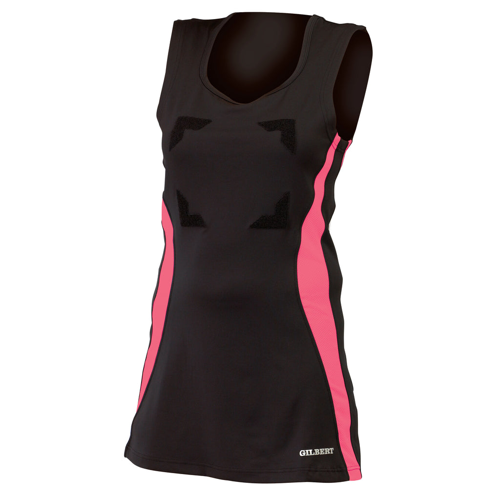 Gilbert Eclipse Netball Dress Black/Pink - Nutz About Netball