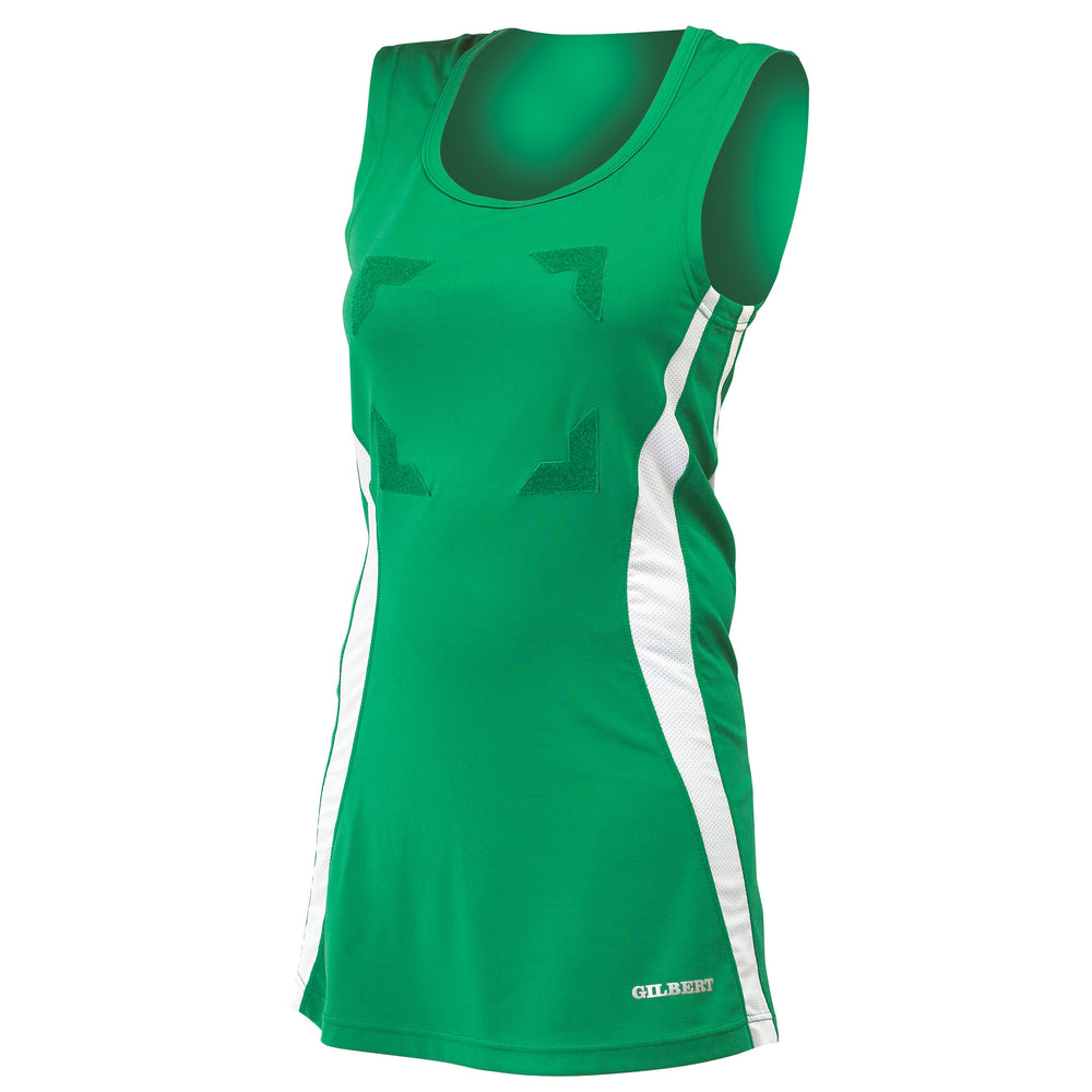 Gilbert Eclipse Netball Dress Green/White - Nutz About Netball