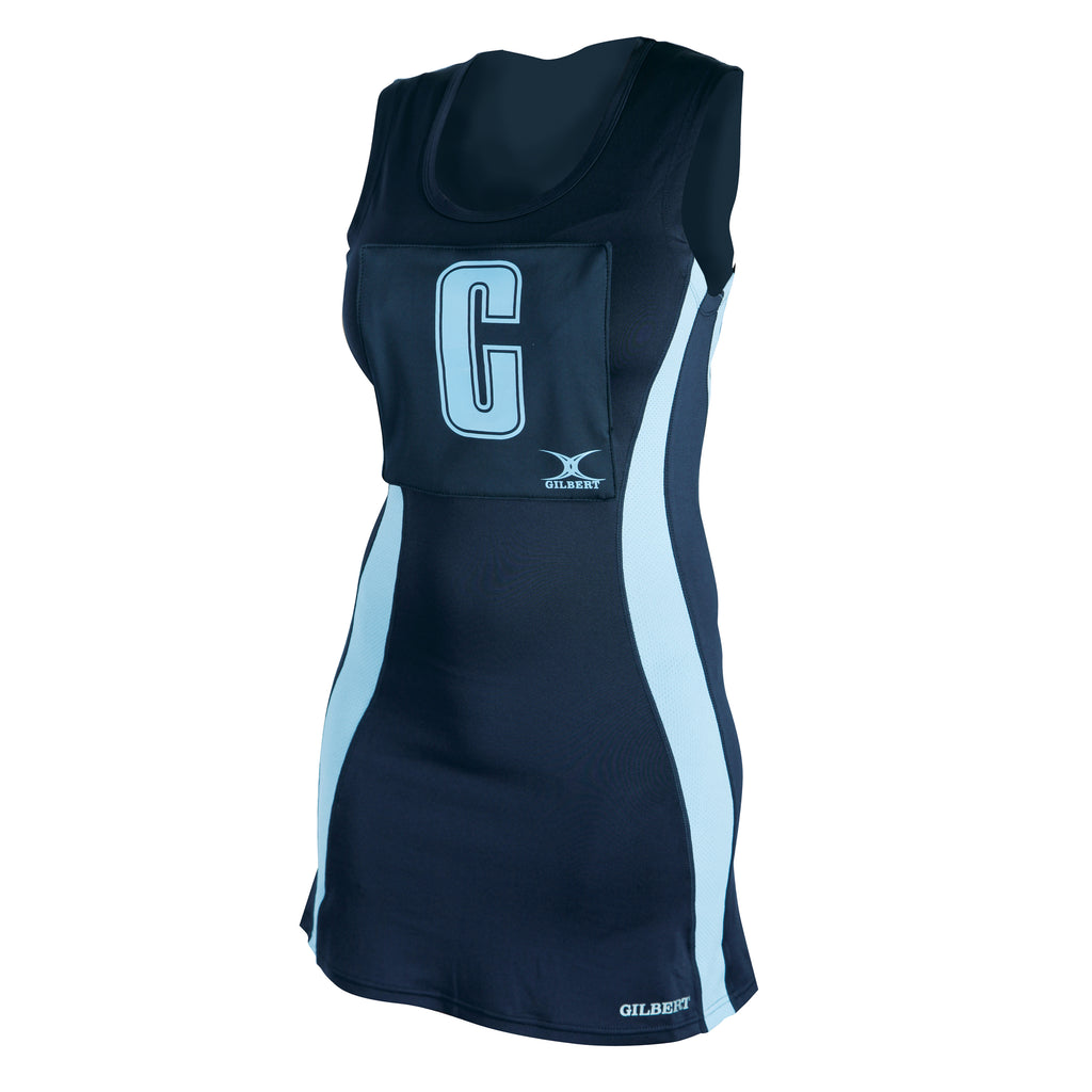 Gilbert Eclipse Netball Dress Navy/Sky - Nutz About Netball