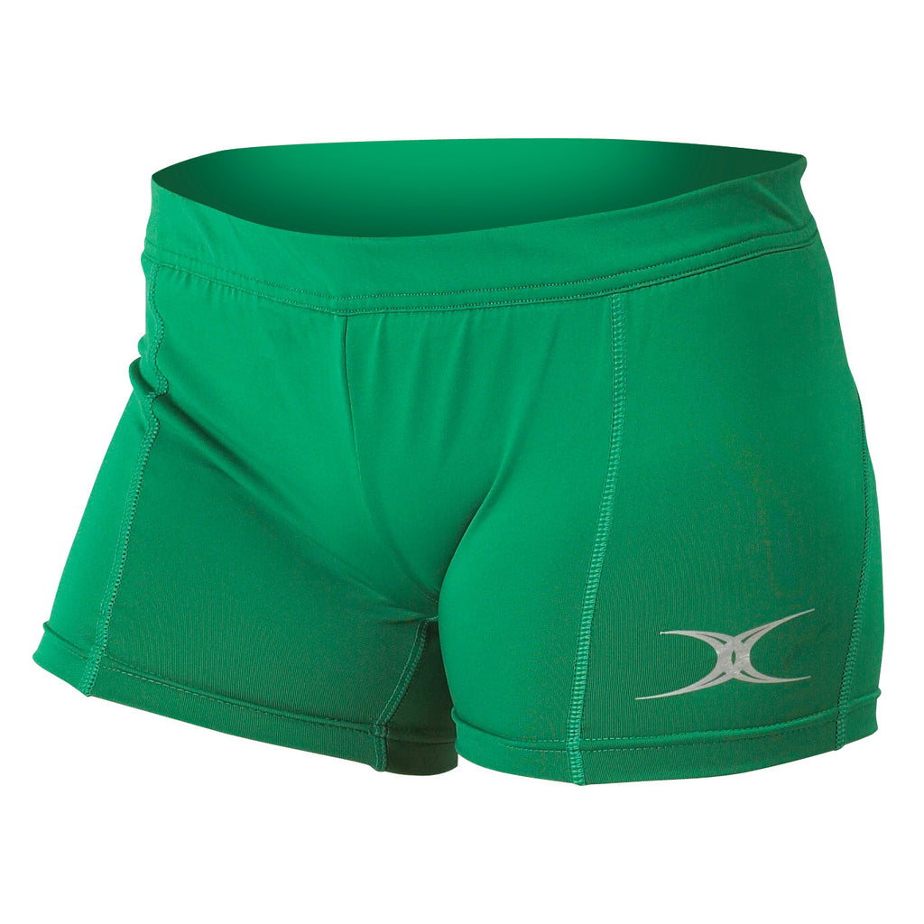 Gilbert Eclipse Netball Shorts Green - Nutz About Netball