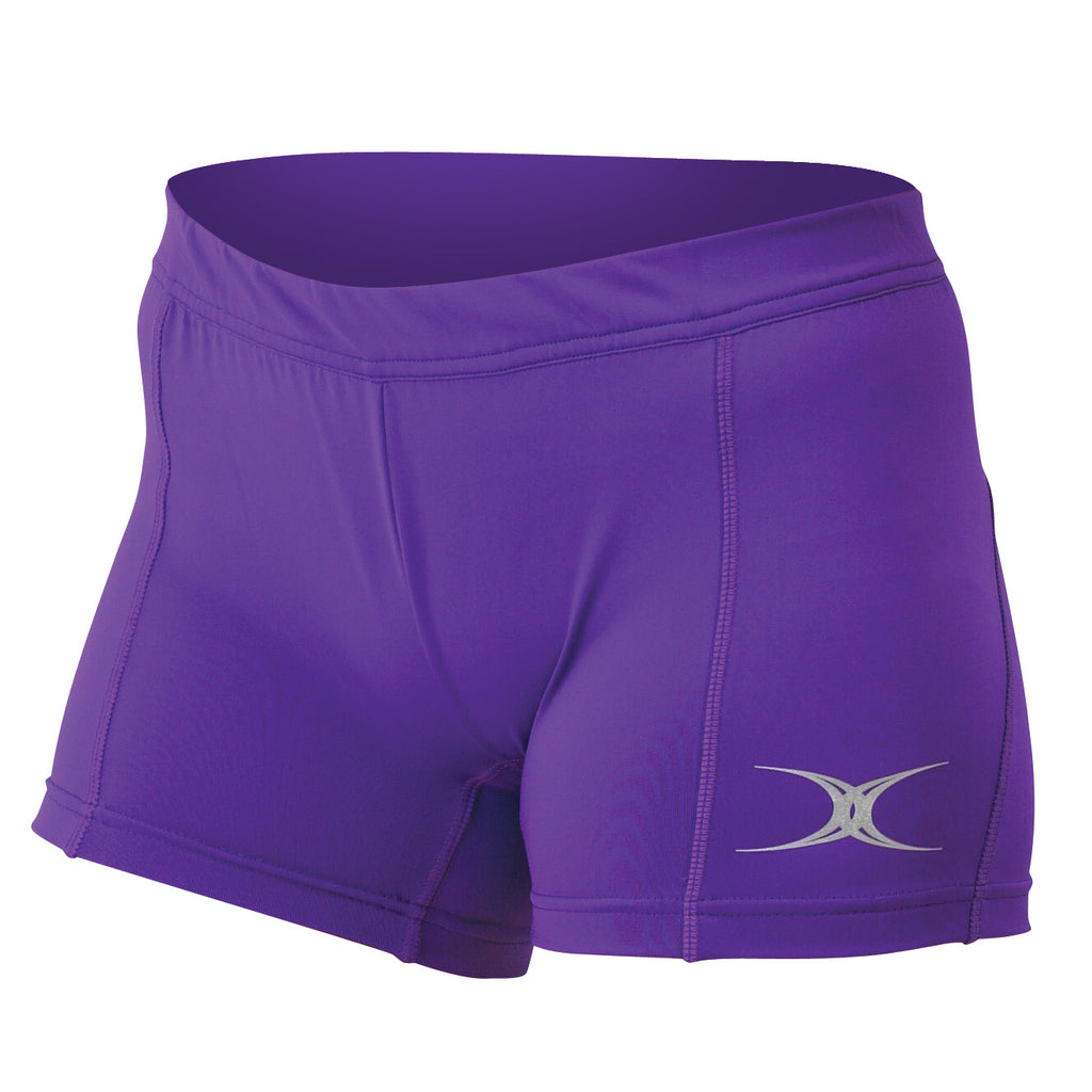 Gilbert Eclipse Netball Shorts Purple - Nutz About Netball