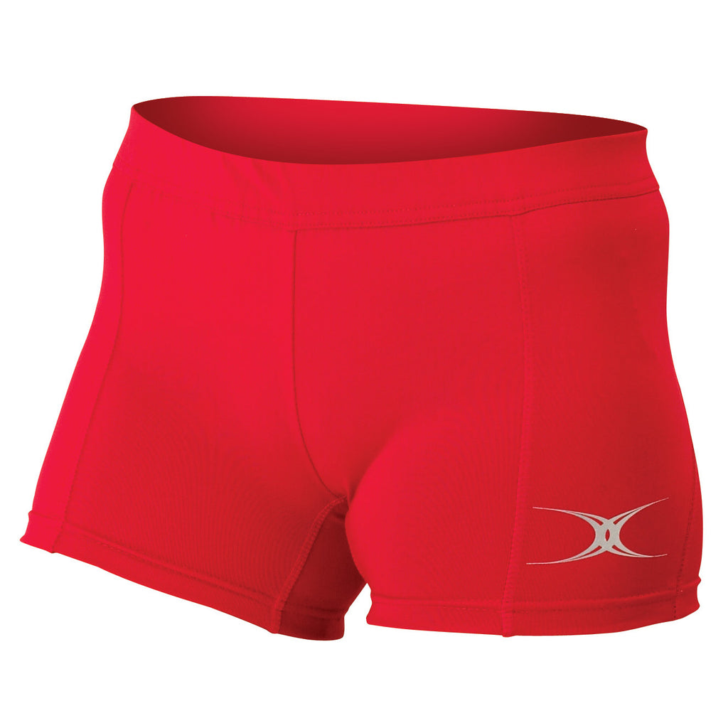 Gilbert Eclipse Netball Shorts Red - Nutz About Netball